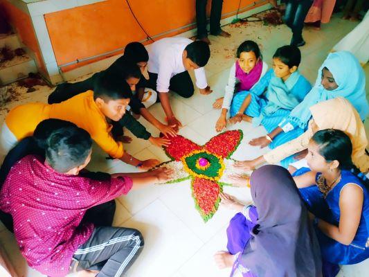 Group effort in Onam Celebration